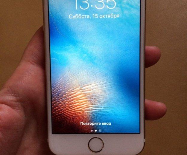 Iphone 6s 64 gb gold. Фото 1.