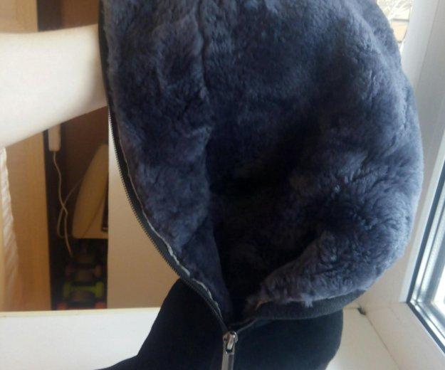 Срочно продам натуральные замшевые зимние сапоги. Фото 2.