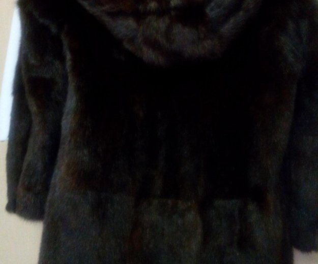 Шубка норковая с капюшоном. Фото 3.