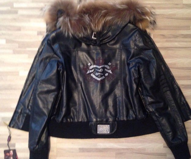 Куртка натуральная кожа , модная, молодежная. Фото 2.