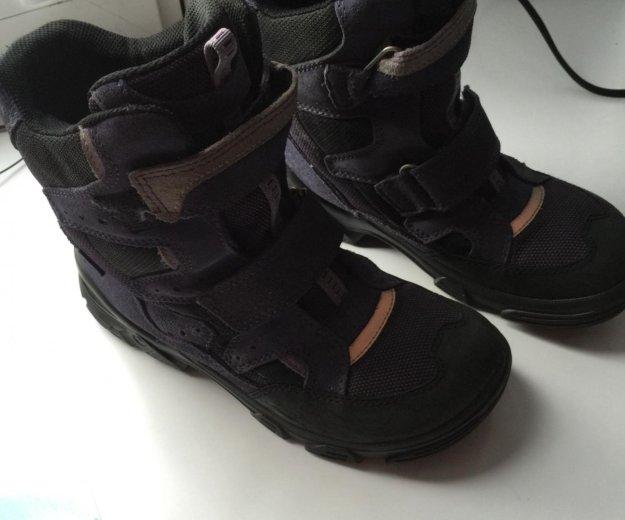 Детские ботинки ecco зима. Фото 1.