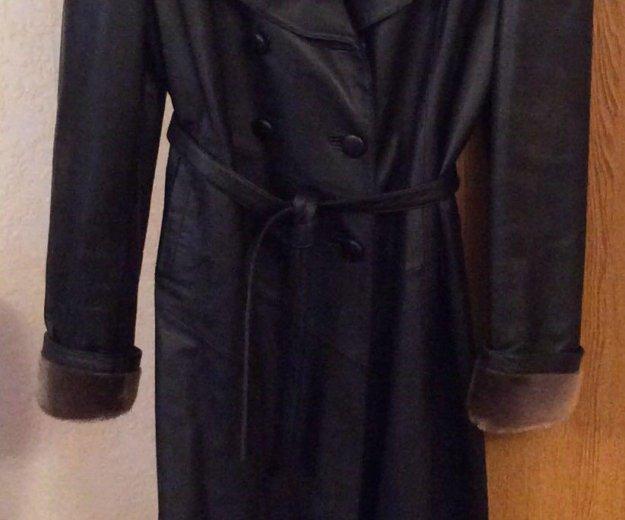 Плащ-пальто женское из натуральной кожи. Фото 1. Самара.