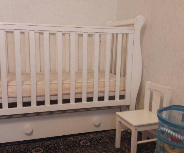 Детская кроватка лаванда. Фото 1.