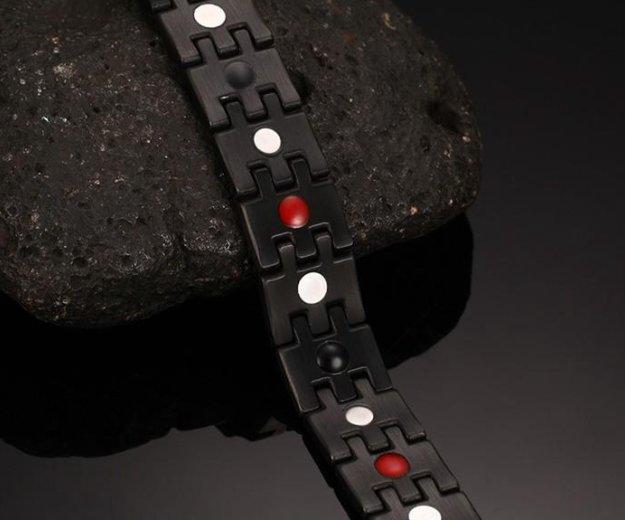 Мужской магнитный браслет на руку из стали гематит. Фото 4. Москва.