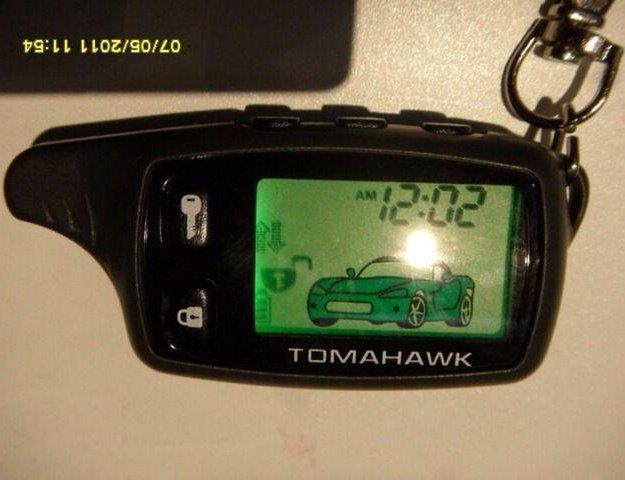 Брелок сигнализации tomahawk. Фото 1. Москва.
