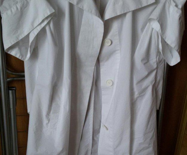 Блузон длинный calvin klein из хлопковой ткани. Фото 2. Москва.