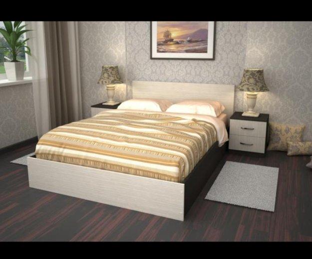 Новая кровать. 160*200. венге,дуб млечный. Фото 1. Санкт-Петербург.