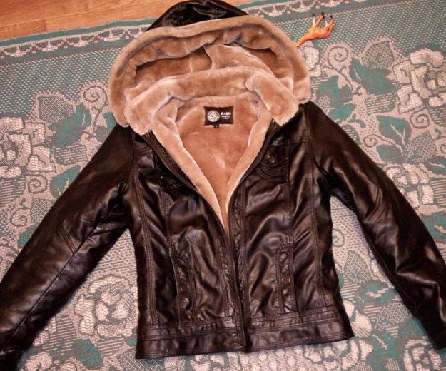 Куртка кожаная. Фото 1. Гурьевск.