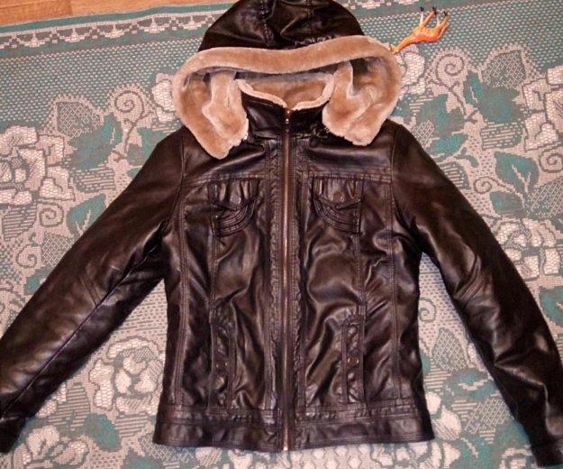 Куртка кожаная. Фото 2. Гурьевск.