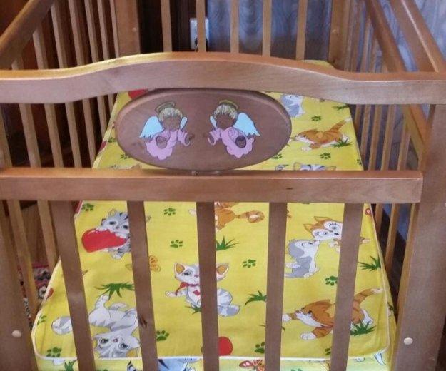 Кроватка детская с матрасиком. Фото 1. Златоуст.