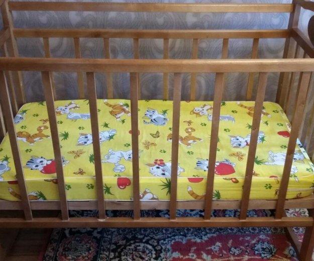 Кроватка детская с матрасиком. Фото 2. Златоуст.