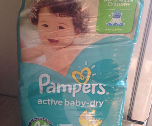 Подгузники pampers active baby-dry. Фото 1. Зеленоград.