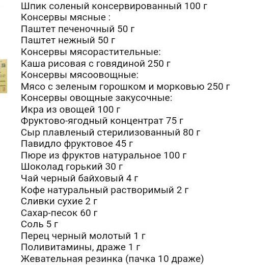 Индивидуальный рацион питания. Фото 2. Новороссийск.