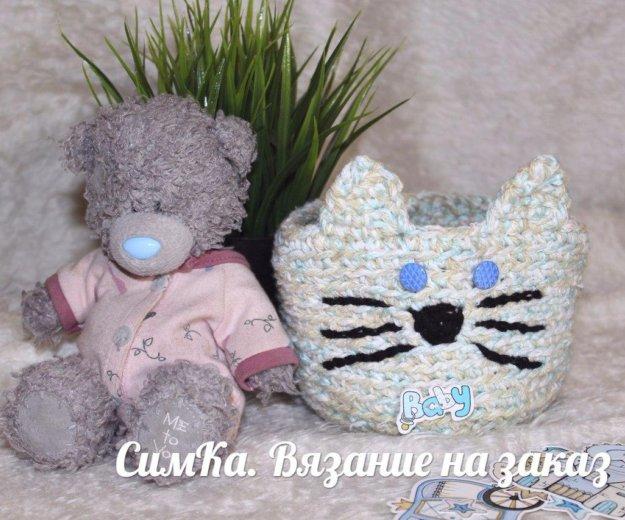 Вязанная корзина. Фото 1. Санкт-Петербург.