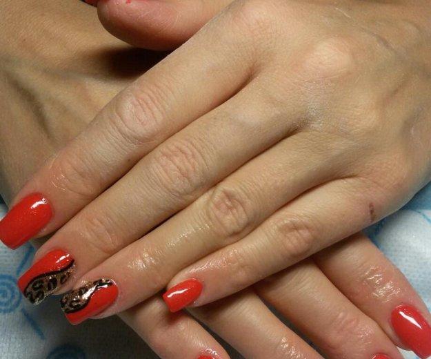 Гель-лак, наращивание ногтей, маникюр. Фото 3. Самара.