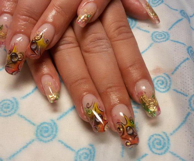 Гель-лак, наращивание ногтей, маникюр. Фото 4. Самара.