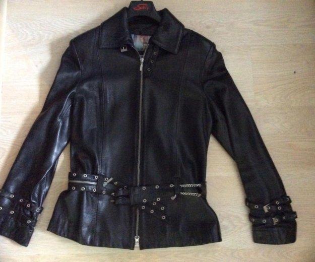 Кожаная куртка женская. Фото 3. Химки.