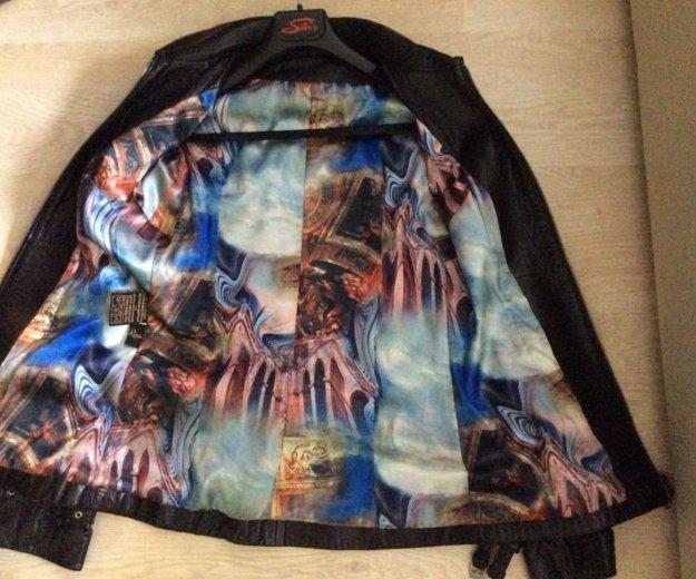 Кожаная куртка женская. Фото 2. Химки.