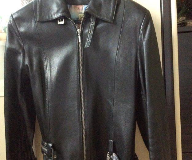 Кожаная куртка женская. Фото 1. Химки.