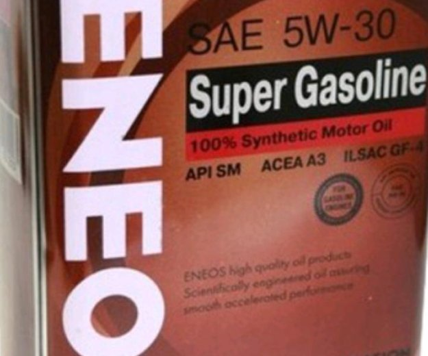 Eneos super gasoline synthetic sae 5w30 sm. Фото 1. Красноярск.
