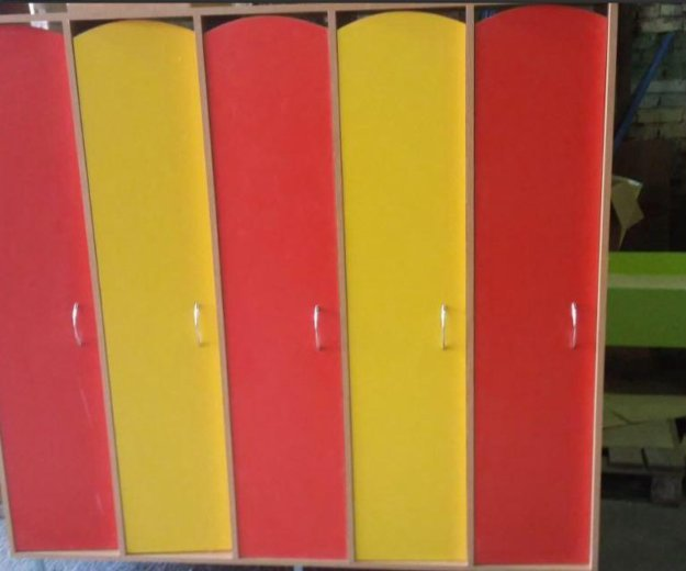 Шкаф для одежды 4ех секционный для детского сада. Фото 1. Красноярск.