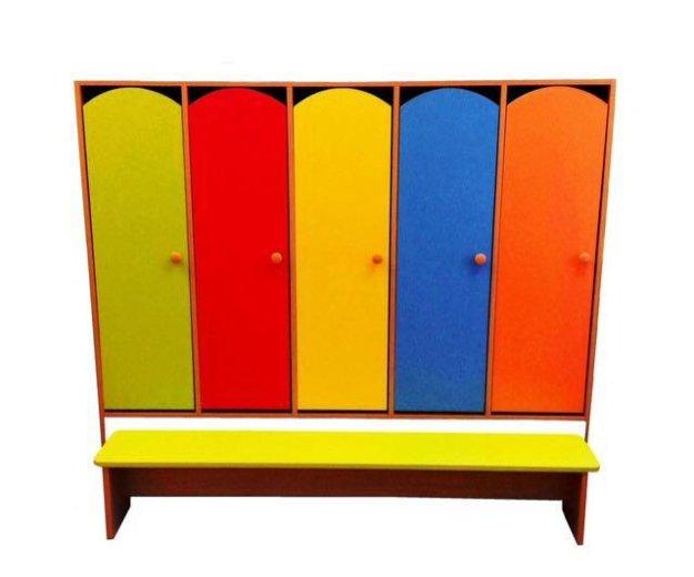 Шкаф для одежды 4ех секционный для детского сада. Фото 2. Красноярск.