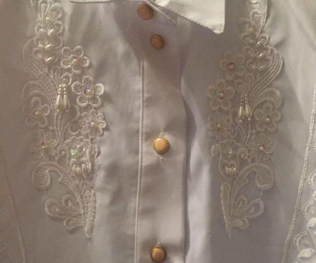 Белая блузка и рубашка новые. Фото 4.