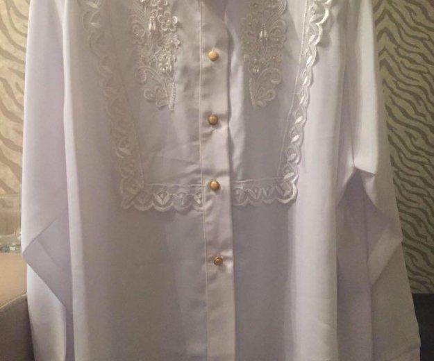Белая блузка и рубашка новые. Фото 3.