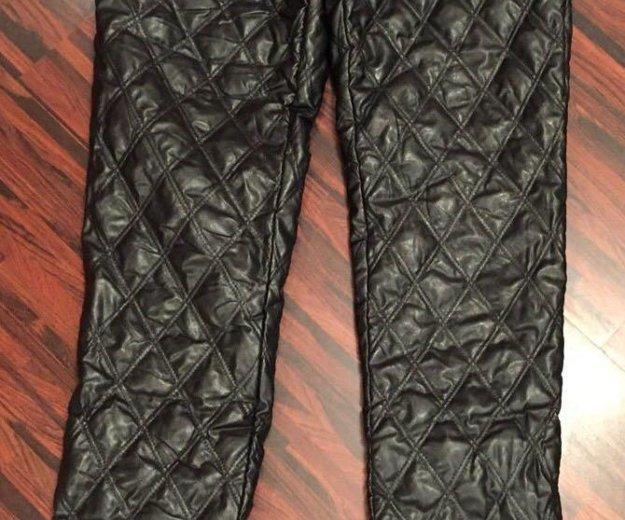 Новые штаны зимние (эко-кожа). Фото 1. Железнодорожный.