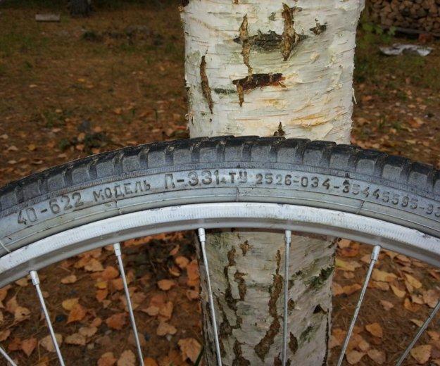 Колесо велосипедное заднее в сборе. Фото 2.