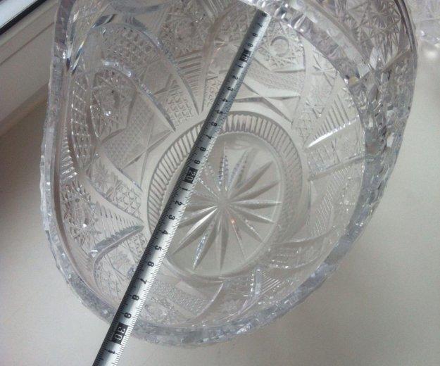 Хрустальная конфетница большая. Фото 2. Москва.