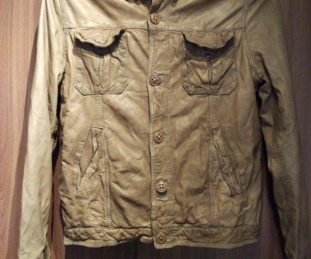 Куртка bomboogie кожаная. Фото 1.