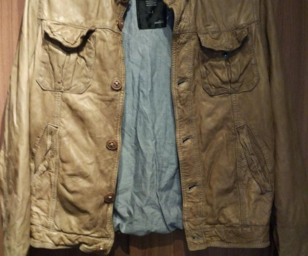 Куртка bomboogie кожаная. Фото 4.