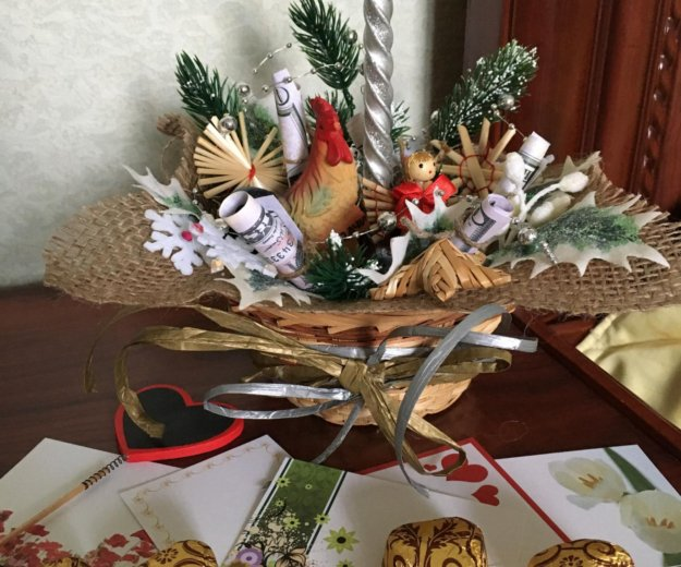 Новогодняя подарочная композиция. Фото 3. Реутов.