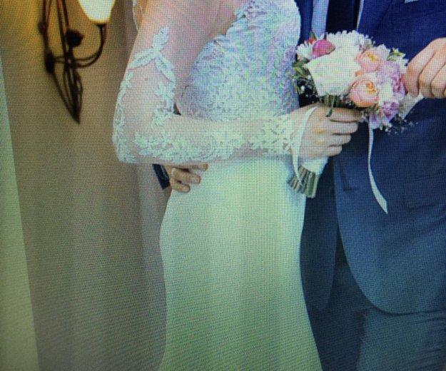 Свадебное платье ( одевала на регистрацию) торг. Фото 2. Альметьевск.