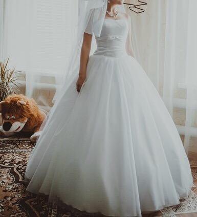 Платье свадебное + фата (новая) to be bride. Фото 1. Котельники.