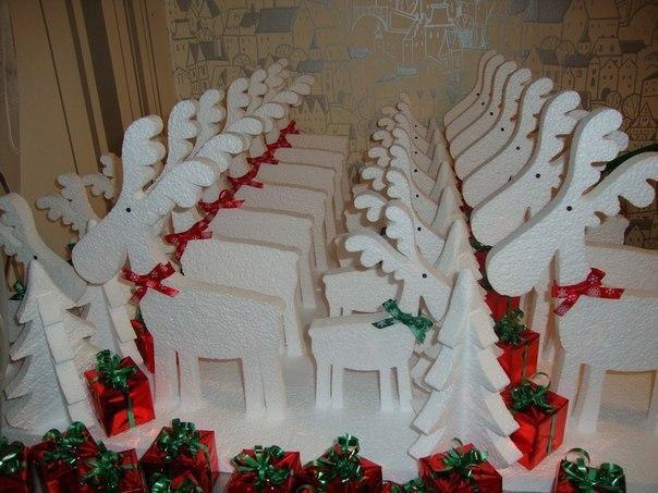 Снежинки из пенопласта, новогодний декор. Фото 3. Москва.