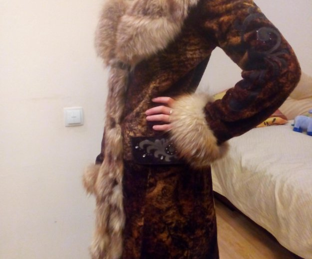 Шуба женская мутон-лиса. Фото 2. Ярославль.
