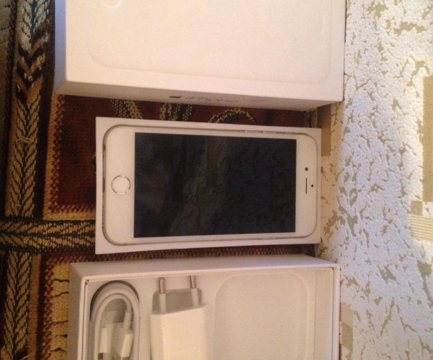 Iphone 6 16 gb silver,комплект,отл сост+чек. Фото 1.