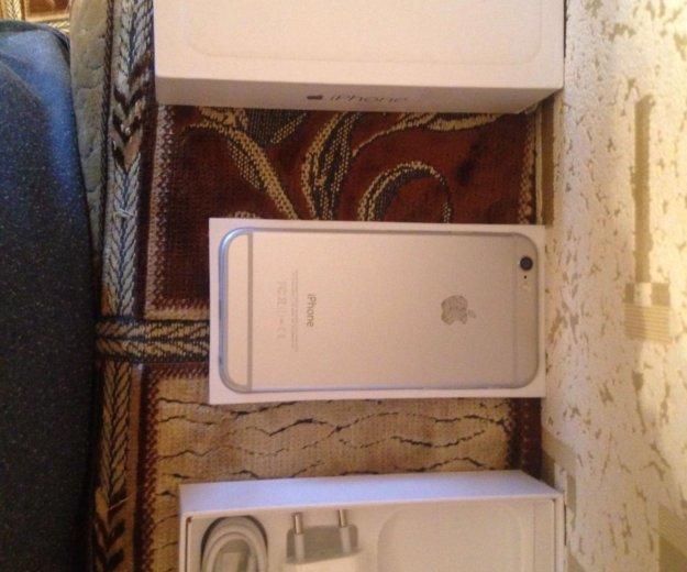 Iphone 6 16 gb silver,комплект,отл сост+чек. Фото 2.