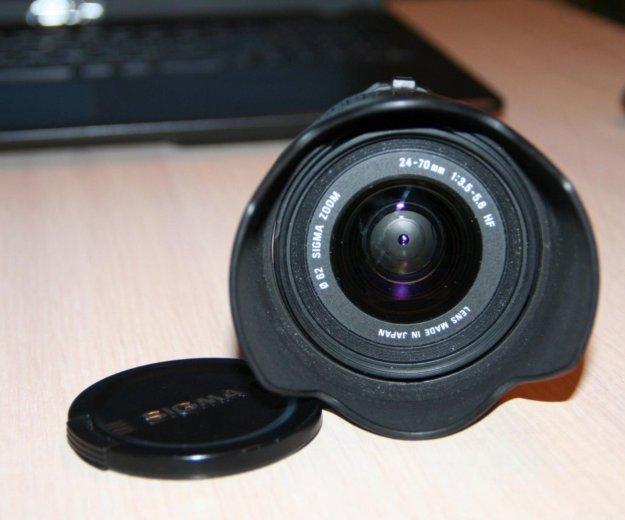 Продам объектив sigma 24-70 мм. Фото 1. Новосибирск.