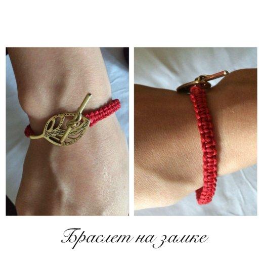 Плетёные браслет из красных нитей от сглаза. Фото 1. Орск.