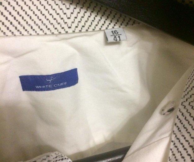 Мужская рубашка white cuff. Фото 3. Балашиха.