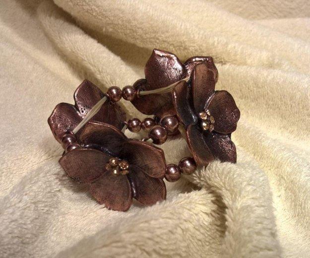 Браслет метал.цветок. Фото 2. Балашиха.