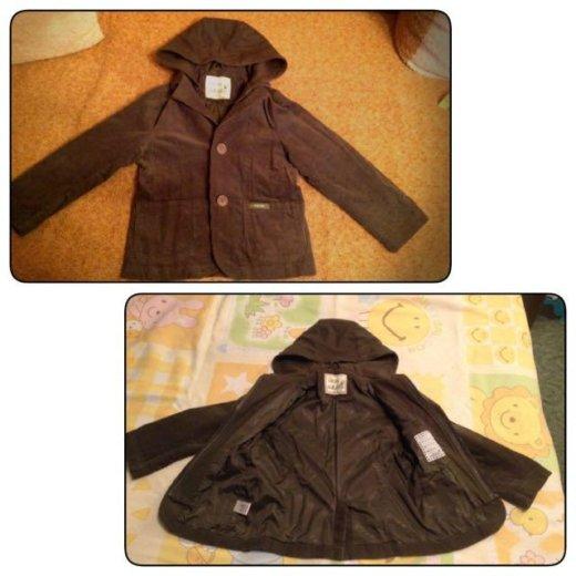 Вельветовый пиджак на 120 рост. Фото 1. Москва.