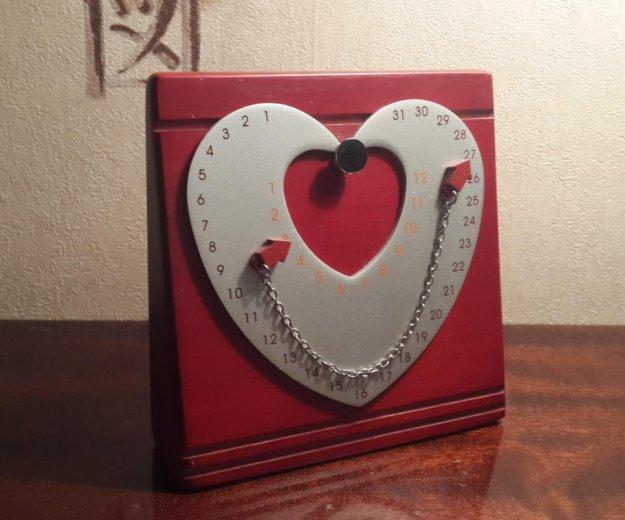 Сувенир. магнитный календарь. сердце. Фото 1.