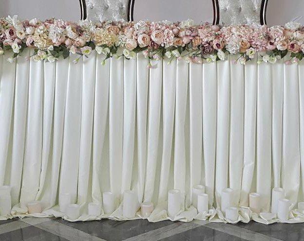 Юбка для оформления свадебного стола. Фото 1. Краснодар.