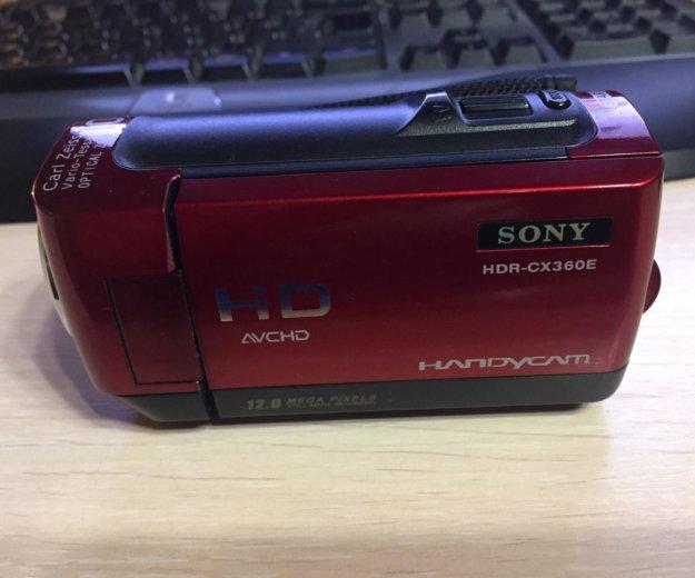 Sony hdr-cx360e red. Фото 1. Москва.