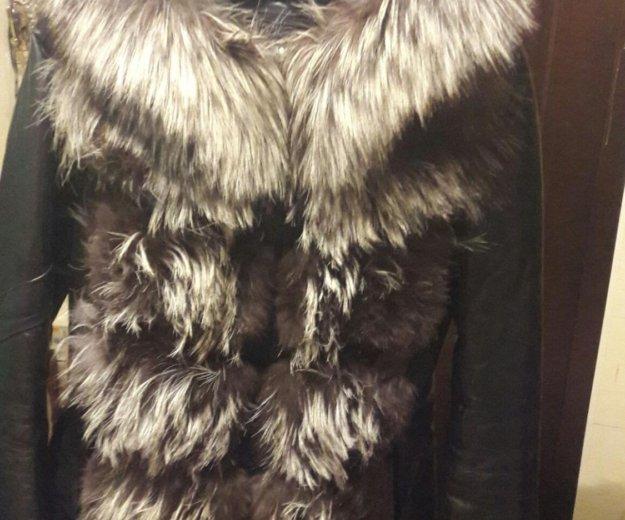 Зимняя кожаная куртка с поясом. Фото 2. Калуга.