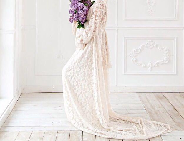 Необычное неповторимое свадебное платье. Фото 1.